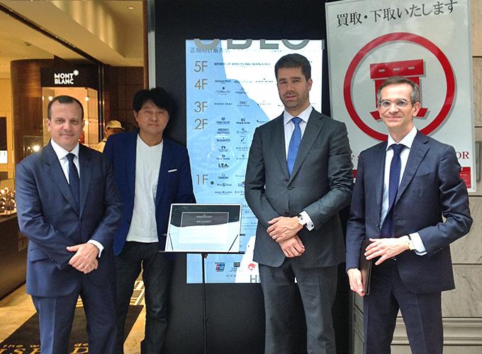 『Jaeger-LeCoultre』本国CEO代理 Mr.Geoffroy Lefebvre、グローバル営業担当取締役 Mr.Nasr Benaissa、日本CEO Mr.Stefano Bossiが来訪
