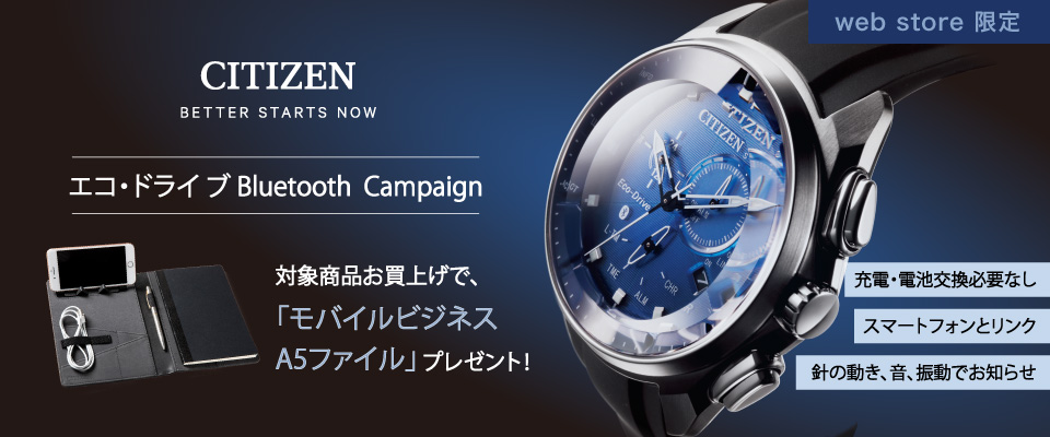 エコ・ドライブ Bluetooth Campaign[web store]